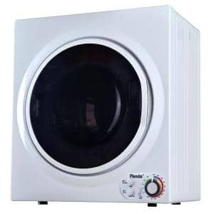 3.5 cu.ft. 110-Volt Compact Portable Electric Laundry Dryer, White and Black