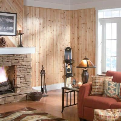 1/4 in. x 3.5 in. x 8 ft. Cedar V-Plank (6-Pieces) - 14 sq. ft.