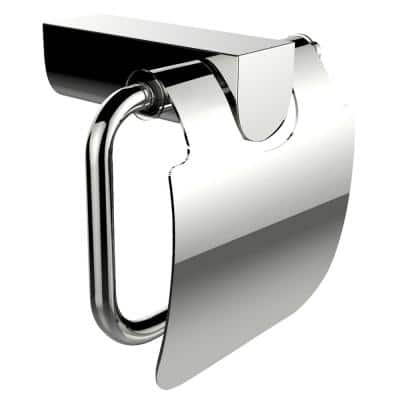 1-Piece Bathroom Accessory Set with Toilet Paper Holder in Chrome