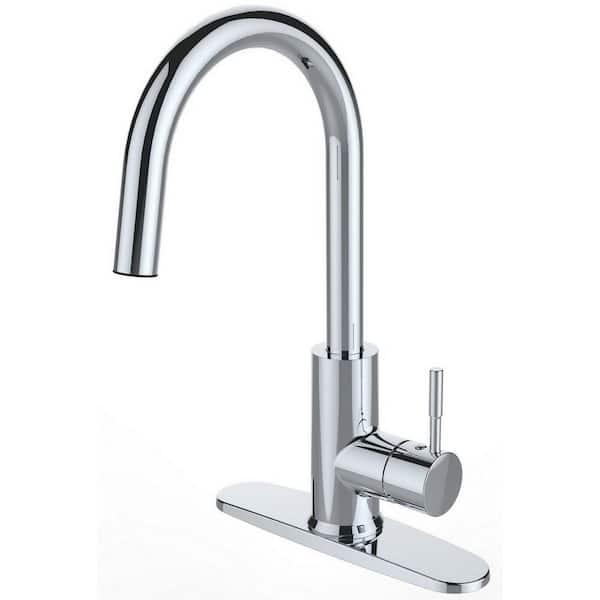 RUNFINE Single-Handle Sprayer Patented Design Kitchen Faucet Chrome Finish