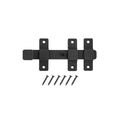 8 in. Black Heavy-Duty Slide Bolt with Rust Defender