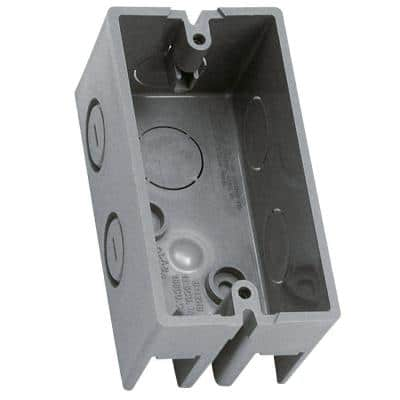 Gray 1-Gang 12 cu. in. New Work Non-Metallic Handy Box