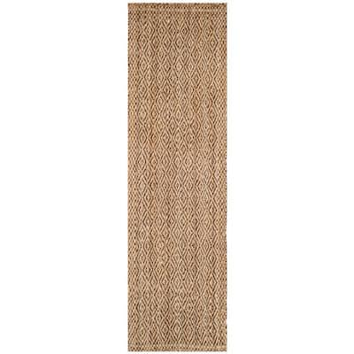 Natural Fiber Beige/Brown 2 ft. x 10 ft. Border Runner Rug