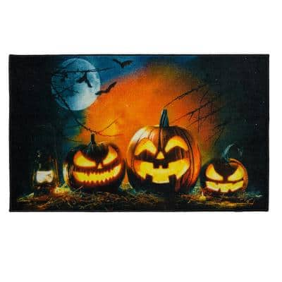 Glowing Jacks Black 2 ft. x 3 ft. 4 in. Holiday Area Rug