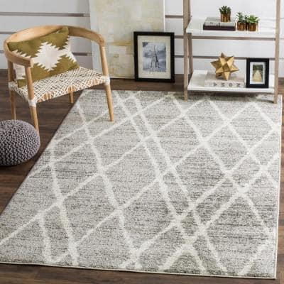 Adirondack Ivory/Silver 6 ft. x 9 ft. Area Rug