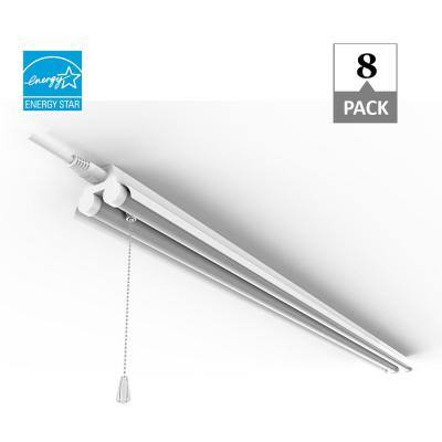 4 ft. 80-Watt Equivalent Integrated LED White Shop Light, 4000K (8-Pack)