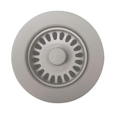3.5 in. Decorative Basket Strainer in Concrete Gray