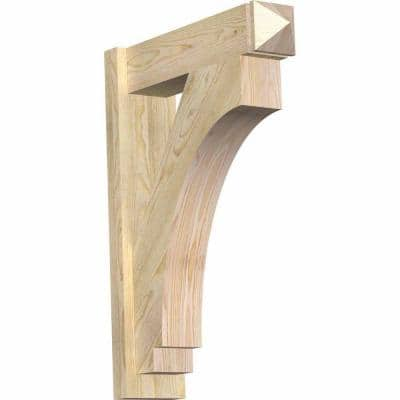 6 in. x 30 in. x 22 in. Imperial Arts and Crafts Rough Sawn Douglas Fir Outlooker