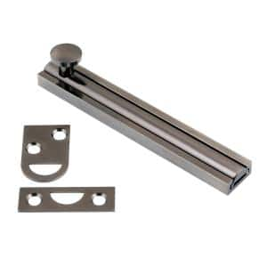 4 in. Solid Brass Antique Nickel Surface Bolt