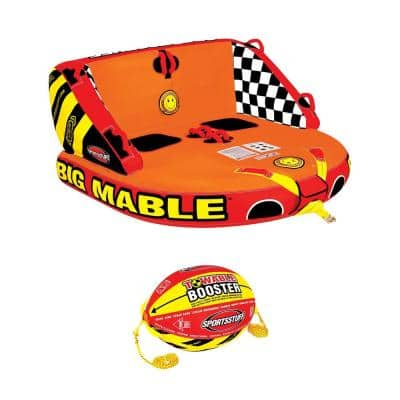 Big Mable Inflatable Double Rider Towable Tube and Ball Towing System