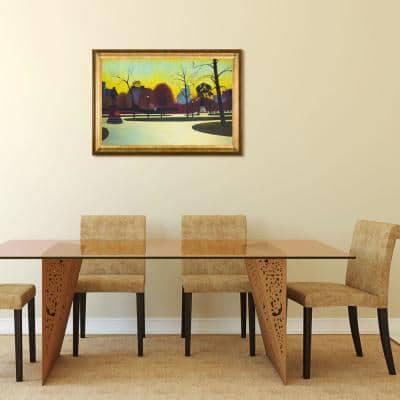 """41 in. x 29 in. """"Shakespeare At Dusk, 1935 with Athenian Gold Frame """" by Edward Hopper Framed Wall Art"""