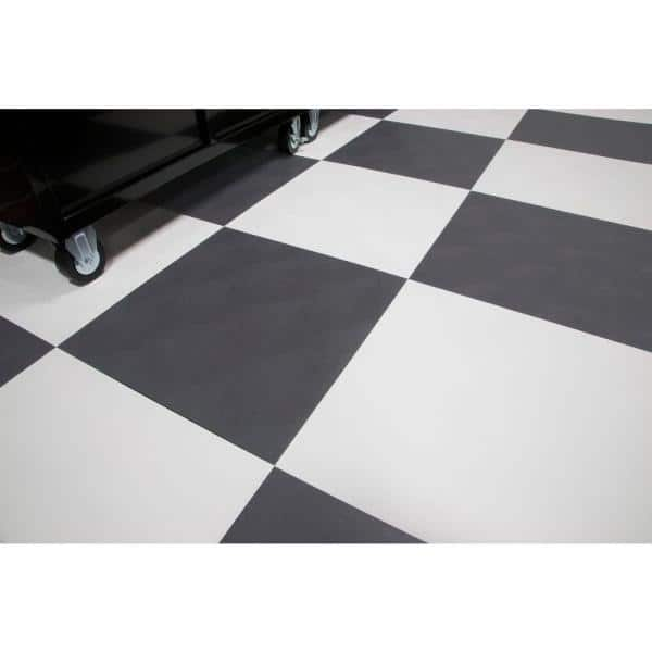 G Floor Raceday Levant Slate Grey Polyvinyl 24 In X 24 In Peel And Stick Tile 40 Sq Ft Case T95lv24sg10p3 The Home Depot