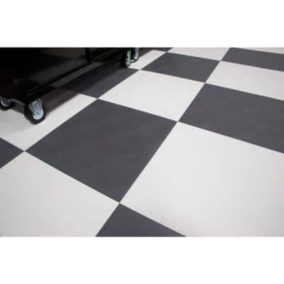RaceDay Levant Slate Grey Polyvinyl 24 in. x 24 in. Peel and Stick Tile (40 sq. ft. / case)