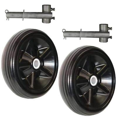 Pair of Roll-in Dock Wheels with Galvanized Steel Hubs