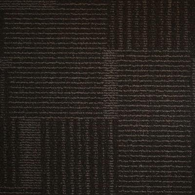 Windsor Terrace Ebony Loop 19.7 in. x 19.7 in. Carpet Tile (20 Tiles/Case)