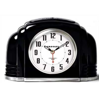 33388B- Deco Bakelite Black Arch Alarm