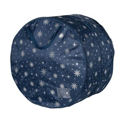 24 in. Navy Polyester Deluxe Wreath Storage