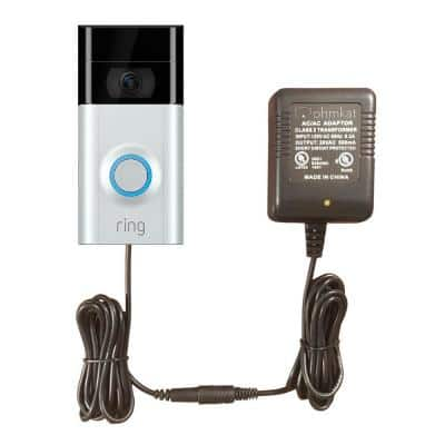 Video Doorbell Power Supply - Compatible with Ring 2 & 3 (Black)