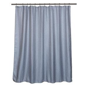 Cardiff Shower Curtain Blue 71 in. x 71 in.