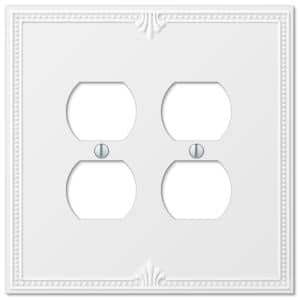 Richmond 2 Gang Duplex Composite Wall Plate - White