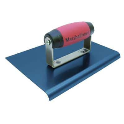 6 in. x 6 in. Blue Steel Edger with 3/8 in. R