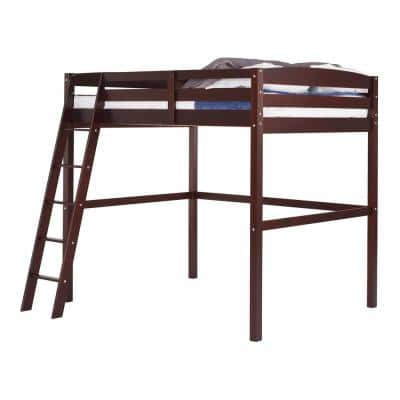 Tribeca Cappuccino Twin Size High Loft Bed