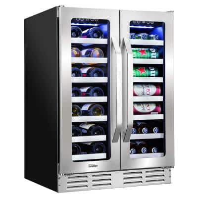 23 in. 40-Bottle Dual Zone Built-in Wine and Beverage Cooler