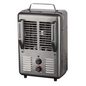 120-Volt Portable Electric Milk House Space Heater in Gray