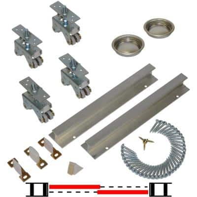 200SD Series 72 in. Track and Hardware Set for 2-Door Bypass Doors
