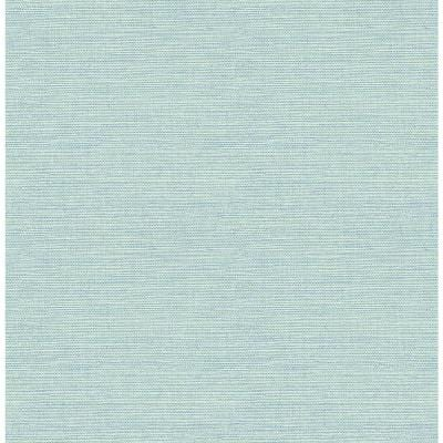 Agave Teal Faux Grasscloth Teal Wallpaper Sample