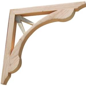Teardrop V 16 in. x 1.6 in. x 16 in. Designer Wood Corbel (2-Pack)