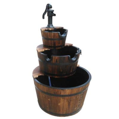 40 in. Char-Log 3-Stage Water Fountain