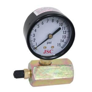 5 lb. Gas Test Gauge Assembly with 2-5/8 in. Face and 3/4 in. FIP Inlet