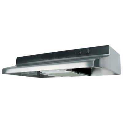 Quiet Zone 30 in. ENERGY STAR Certified Under Cabinet Convertible Range Hood with Light in Stainless Steel