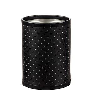 8 qt. Nova Ebonite Round Waste Basket
