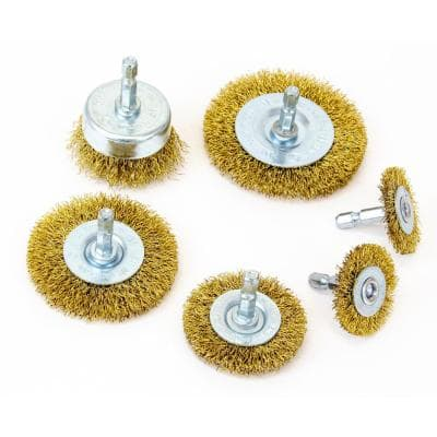 General Purpose Coarse Wire Wheel and Cup Brush Set (6-Piece)