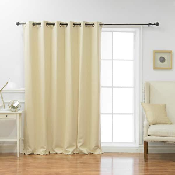 Best Home Fashion Beige Grommet, 84 In Curtains