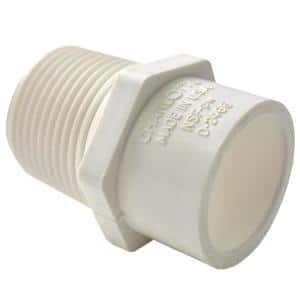 1-1/4 in. x 1-1/2 in. PVC Schedule 40 MPT x S Reducer Male Adapter