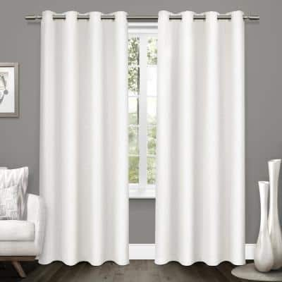 Winter White Woven Thermal Blackout Curtain - 52 in. W x 96 in. L (Set of 2)