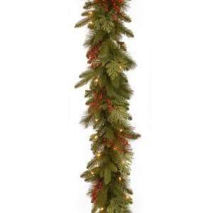 Classical Collection 9 ft. Mixed Evergreen Tip Garland with Clear Lights