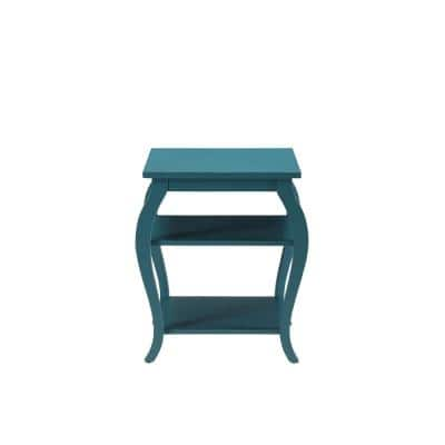Becci Teal Storage End Table