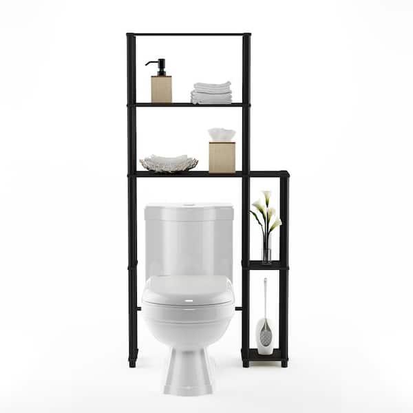 Furinno Turn N Espresso Black, Black Bathroom Space Saver