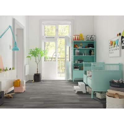 Pelican Gray 7 in. x 48 in. Rigid Core Luxury Vinyl Plank Flooring (23.77 sq. ft. / case)