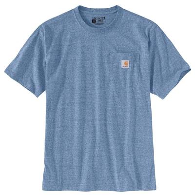 Men's X-Large Coastal Snow Heather Cotton/Polyester K87 M Loose Fit Heavy Weight Short Sleeve Pocket T-Shirt