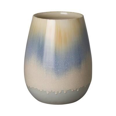14 in. Falling Rain Ceramic Cup Planter