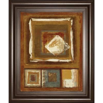 """in. W hite Diamond"""" By Jenny Siekmann Framed Print Wall Art 26 in. x 22 in."""