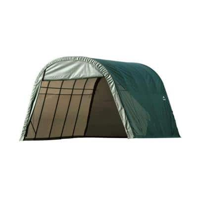 ShelterCoat 13 ft. x 28 ft. Wind and Snow Rated Garage Round Green STD