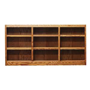 Concepts In Wood 36 in. Dry Oak Wood 9-shelf Standard Bookcase Deals
