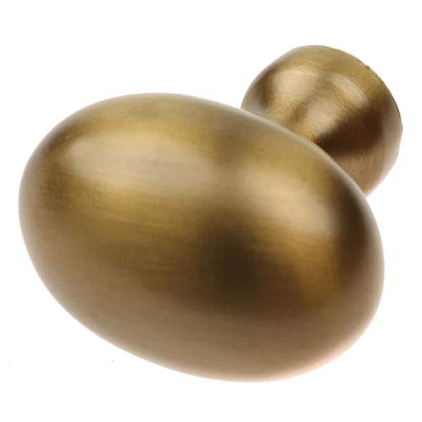Gliderite 1 1 8 In Dia Satin Gold Classic Oval Cabinet Knob 10 Pack 5417 Sg 10 The Home Depot