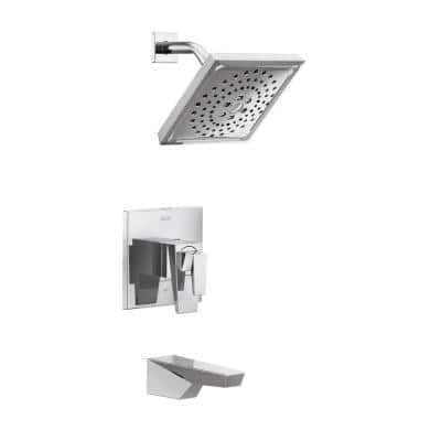 Trillian 1-Handle Wall-Mount Tub and Shower Trim Kit in Chrome (Valve not Included)